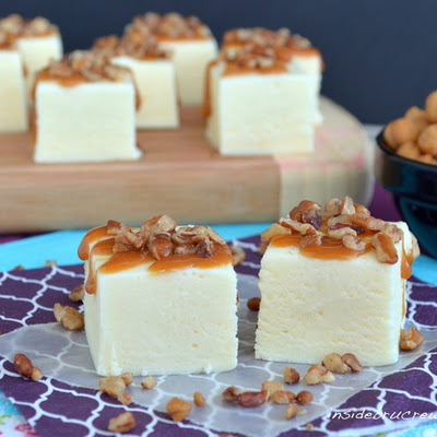 Easy Turtle Cheesecake Fudge