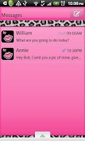 Screenshot of GO SMS THEME/PnkWhtLeopard