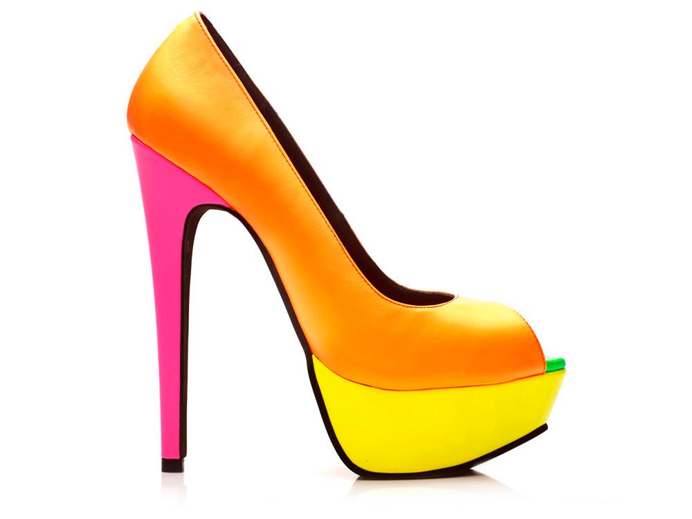 Shoes Neon Peeptoes