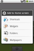 Screenshot of Today Widget