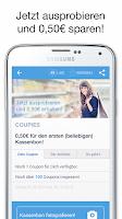 Screenshot of COUPIES Coupons im Supermarkt