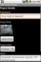 Screenshot of Knitting Stash