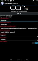 Screenshot of CCNx TxRxRelay