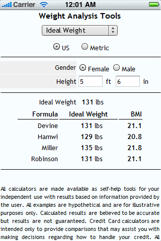 Weight Analysis Tools