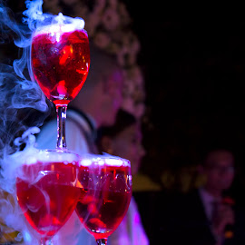 Glasses by Liên Đại - Wedding Other ( wine, red wine, wedding, smoke, carbon dioxide,  )