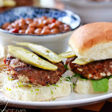 Andouille Blue Cheese Slider Burgers