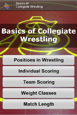 Basics of Collegiate Wrestling