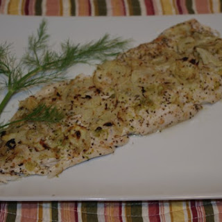 Broiled White Fish With Lime Pepper And Fennel