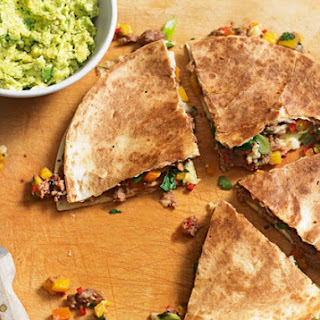 Spicy Refried Bean And Cheese Quesadillas