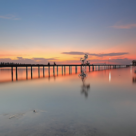 Sumberkima by Ibindar Barabim Barabom - Landscapes Beaches ( bali, indonesia, sunset, bridge, motion )
