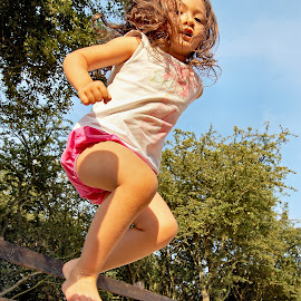Jump by Jason Lovell - Babies & Children Children Candids ( child, girl, park, play, high, fun, young, jump )