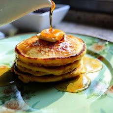 Cornmeal Pancakes (with Blackberry Syrup)