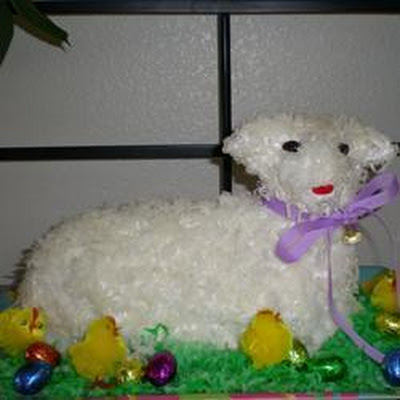 Lamb-Shaped Easter Cake