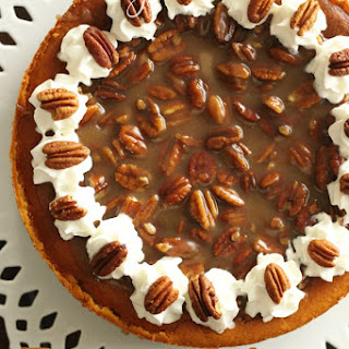 Pumpkin Cheesecake with Praline Pecan