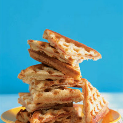 Waffled Ham and Cheese Sandwiches
