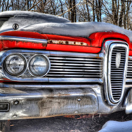 The Red Edsel by Mike Roth - Transportation Automobiles