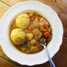 Slow-cooked Vegetable And Lentil Stew With Polenta Dumplings