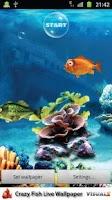 Screenshot of Crazy Fish Live Wallpaper