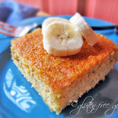 Polenta Cake Recipe with Bananas