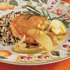 Apple-Leek Pork Chops