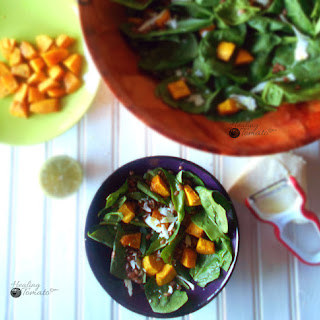 Lentil Salad with Spiced Pumpkins
