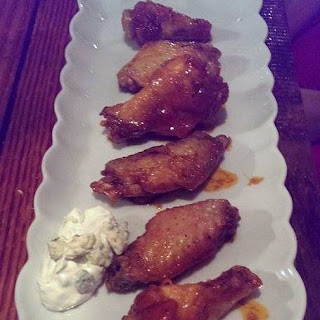 Honey Chipotle Wings with Gorgonzola Dipping Sauce