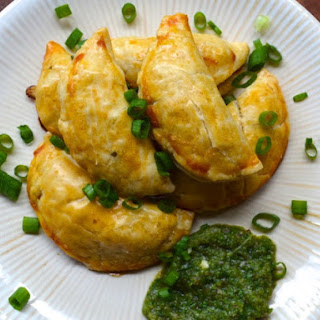 Potato and Corn Empanadas with Aji