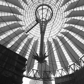 SonyCenterDome by Riccardo Lazzari - Buildings & Architecture Bridges & Suspended Structures ( black and white, dome, architecture, berlin, architettura, Architecture, Ceilings, Ceiling, Buildings, Building )