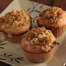 Cherry Banana Muffins with White Chocolate Chips