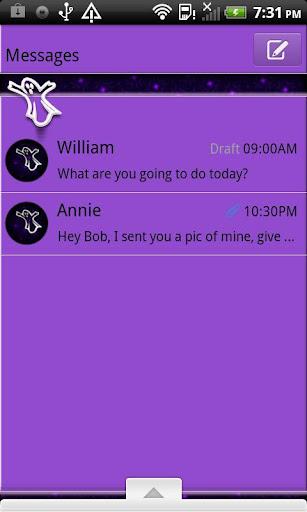 GO SMS THEME GirlyGhost4U
