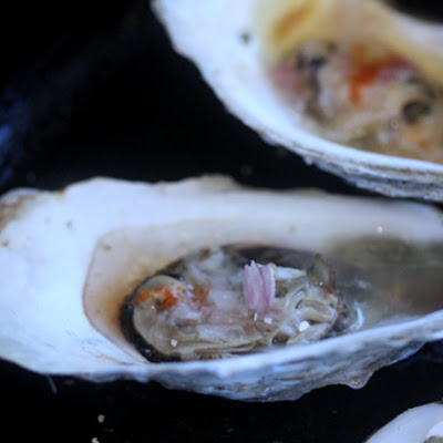 Broiled Oysters with Siracha-Lime Butter