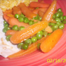 Buttered Baby Carrots and Sweet Peas