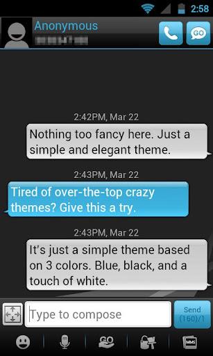 GO SMS THEME - Smooth Blue