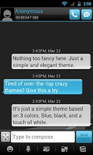 GO SMS THEME - Smooth Blue - screenshot