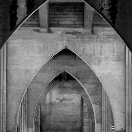 Suislaw River Bridge by Terri Brown - Buildings & Architecture Bridges & Suspended Structures ( cathedral arches, oregon, suislaw, florence, suislaw river bridge, suislaw river )
