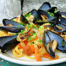 Pasta With a Lot of Mussel