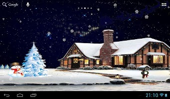 Screenshot of Christmas night