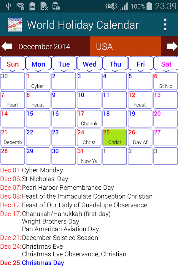 Calendar Apps For Laptop : Download holiday calendar free for pc choilieng