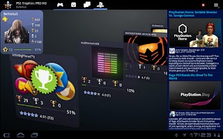 Screenshot of PS3 Trophies PRO HD