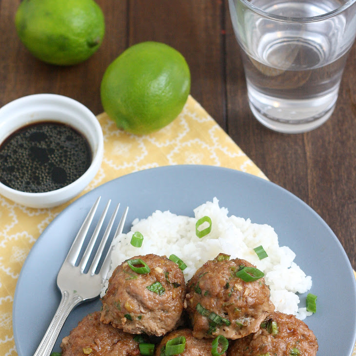 Asian Turkey Meatballs With Lime Sesame Dipping Sauce Recipe | Yummly