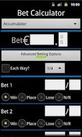Screenshot of Bet Calculator