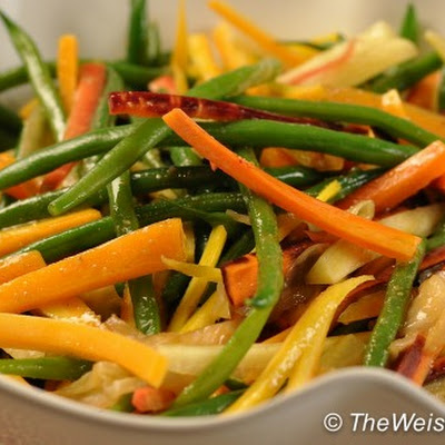 Tricolor Green Bean and Carrot Salad