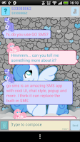 Screenshot of GO SMS Blue Pony 2 Theme