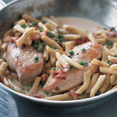 Chicken With Creamy Bacon Penne