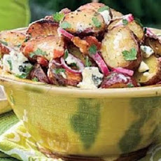 Grilled Red Potato Salad with Bacon-Blue Cheese Vinaigrette
