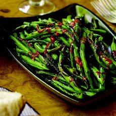 Grilled Green Beans With Harissa