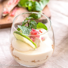 Mojito Cheesecake Parfaits with Finger Lime Caviar