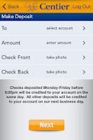 Screenshot of Centier Bank