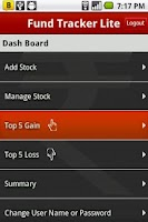 Screenshot of Fund Tracker Lite