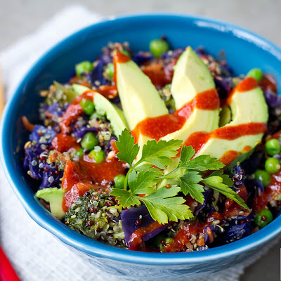 Linda's Spicy Rainbow Buddha Bowl